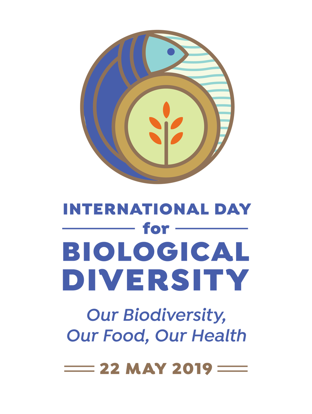 Day for Biodiversity logo vertical 2019